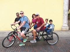 01-14-18 Biciruta Morning 04 (Gil, Derek, Carmen, Jose Antonio, Luna, & Leo) (derek.kolb) Tags: mexico yucatan merida family