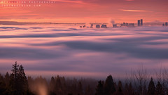 Fluidity (Mohsen-K) Tags: vancouver fog clouds cloudy longexposure city cityscape skyline dawn sunrise golden hour canada britishcolumbia mist