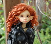 Gracie in a Leather Jacket (Emily1957) Tags: gracie kayewiggs redhair leather blackleatherjacket bjd dolls doll toys toy resin light naturallight nikond40 nikon kitlens availablelight elf