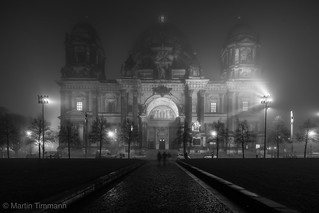 Berlin Cathedral Night & Fog - Classic View