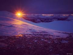 February sunset (veronika.sund) Tags: olympus vinter arctic sun view mountain norway troms nature out sunset winter light