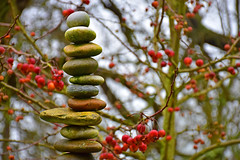 Stones and Fruits (Liwesta) Tags: stones plants fruits red nature art sculpture