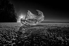 Ice figure (Kari Siren) Tags: ice blck figure spring lake karijarvi jaala finland samyang 8mm fisheye