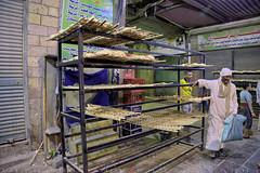 Baked pitta bread on the streets of Aswan market (T Ξ Ξ J Ξ) Tags: egypt cairo fujifilm xt2 teeje fujinon1655mmf28 souk aswan pitta bread