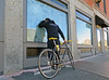 BostonThruaSoapedWindow (fotosqrrl) Tags: boston massachusetts streetphotography urban blackstonestreet hanoverstreet haymarket bicycle looking