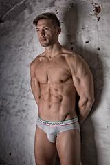 Studio Filipe (novembre 2017) (Vision Factory) Tags: fitness physique male studio muscle masculin gymnastic sport bodybuilding man homme underwear