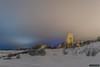 Central headframe 1 [in explore Januari 2018] (kentkirjonen) Tags: abandoned övergivet övergiven canon 80d old gammal sweden sverige dalarna ue decay förfall wood trä minesite gruvområde skärning skärningen snow snö dark mörkt lights lampor maskinhus lave headframe machine sky himmel central centrallave