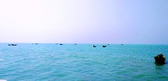 Floating Fishing Boat in Naf River (Minhas Kamal) Tags: bangladesh saint martin burma myanmar teknaf sea seabeach water boat wave blue bayofbengal naf river afternoon beautiful martins island coxs cox bazar chittagong ocean bay bengal sky ship tide mobile photography xiaomi minhas kamal empty alone sad