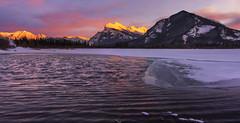 Vermillion Lake at Sunset (Banff NP, Alberta Canada) (Sveta Imnadze) Tags: vermillionlake alberta canada sunset frost cold