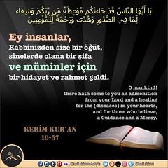 Ayet Kuran 10-57 (Oku Rabbinin Adiyla) Tags: allah kuran islam ayet ayetler ayetullah hadis dua dualar zikir quran god religion bible torah muslim pray prayer