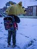 Barakaldo bajo la nieve / Barakaldo under the snow (javierbelasko) Tags: paraguas niño con mochila