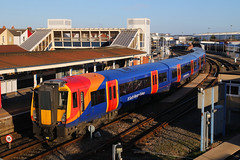458534, Fratton, January 7th 2018 (Southsea_Matt) Tags: emu electricmultipleunit train railway railroad passengertravel publictransport vehicle canon 80d sigma 1850mm january 2018 winter fratton portsmouth hampshire england unitedkingdom stagecoach southwesttrains first mtr southwesternrailway alstom metrocammell juniper class458 458534 wimbledonpark frattondepot