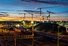 Cranes over Zürich: from the left (1/2) (jaeschol) Tags: eisenbahn europa hardbruecke hardbrücke kantonzürich kontinent kreis5 morgen morning schweiz stadtzürich suisse switzerland transport zeit chemindefer railroad railway zürich ch