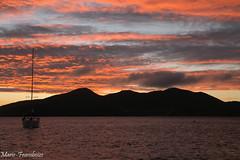 Sunset (MFChab) Tags: caraïbes guadeloupe saintes terredehaut ucpa bateau bleu blue ciel coucherdesoleil eau islands mer mouillage ocean sky sunset vacances voilier water îles
