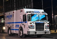 NYPD - Bomb Squad 7009 (Arthur Lombard) Tags: nypd police policedepartment policecar policestation truck newyork nikon nikond7200 led bluelight lightbar spartan spartangladiator night street emergency 112 17 911 999