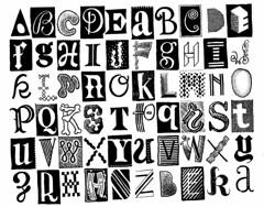 Alphabetdoodle 160 (Don Moyer) Tags: letter grid ink drawing moleskine notebook moyer donmoyer brushpen type typography monochrome