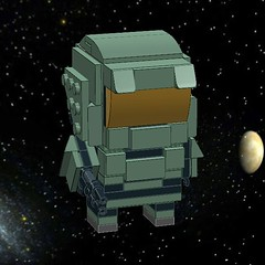 Lego Halo Master Chief BRICKHEAD (TreeOfOre Official) Tags: lego halo legohalo masterchief brickheadz brickhead