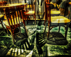 Life is recovering darkness from light (Kai-Ming :-))) Tags: shadow kaiming kmwhk chair reflection bright contrast hdr merging divers