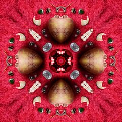 I ♡ potatoes (Apionid) Tags: potato alphabet heart red mirroring pattern gimp nikond7000 werehere hereios alphatato