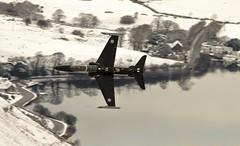 lake hawk (Dafydd RJ Phillips) Tags: zk034 hawk systems bae t2 loop mach snowdonia talyllyn lake snow military aviation canon 7d2 raf force air royal