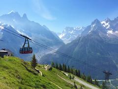 Cable car Les Praz (1060 m) - La Flégère (1877 m). Chamonix-Mont-Blanc. (elsa11) Tags: lespraz chamonix montblancmassif montblancrange montblanc laflégère merdeglace hautesavoie auvergnerhonealpes france frankrijk cablecar téléphérique mountains