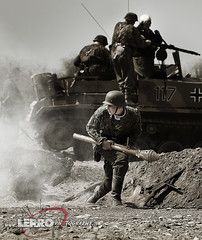D-Day Conneaut Reenactment (Lerro Photography) Tags: worldwarii wwii reenactment ddayconneaut ohio dday reenactor vintage uniforms tank soldier bw black white blackwhite
