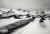 Winter at Vestrahorn, Iceland (Péter Cseke) Tags: infrared vestrahorn iceland mountain landscape nature bw blackandwhite travel nikon d850