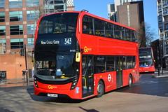 YY67 URO (EH185) Go-Ahead London Central (hotspur_star) Tags: londontransport londonbuses londonbus londonbuses2018 alexanderdennisltd enviro400hmmc tfl transportforlondon hybridbus hybridtechnology busscene2018 doubledeck goaheadlondoncentral yy67uro eh185 343