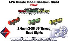 single bead shotgun sights (Fusion Precision Engineering) Tags: lpasights fusionfirearms fusion sight shotgun sights
