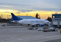 The Dreamlifter (Neal D) Tags: plane airplane aircraft dreamlifter boeing 7474j6lcf n747bc washington everett painefield