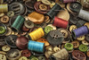 Button Chaos (mraderstorf) Tags: nikon105mmf28 pattern gray tan orange thread closeup sew abstract chaos gold button casual pruple red greenemerald fastener blue sage macro spool sewing mend chore messy shiny 365project work needle 36551 project365