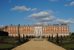 Hampton Court Palace from the Privy Garden (Explored) (zawtowers) Tags: hampton court palace east molesey surrey henry viii historic royal residence saturday february 17th sunny dry visit privy garden path walk front blue skies sunshine