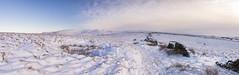 Snow covered moorland (Keartona) Tags: southhead moors moorland snowy snow winter december morning peakdistrict landscape panorama panoramic path walk dawn pennines kinderscout