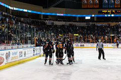 "Kansas City Mavericks vs. Indy Fuel, February 16, 2018, Silverstein Eye Centers Arena, Independence, Missouri.  Photo: © John Howe / Howe Creative Photography, all rights reserved 2018. • <a style=""font-size:0.8em;"" href=""http://www.flickr.com/photos/134016632@N02/40387397041/"" target=""_blank"">View on Flickr</a>"