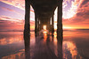 mirrored (Andy Kennelly) Tags: manhattanbeach california unitedstates us pier reflections clouds colorful under
