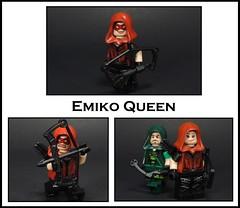 Emiko Queen (-Metarix-) Tags: lego super hero minifig dc comics comic green arrow rebrith universe rebirth emiko queen oliver star city shadow