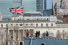 HMS Belfast - Flying The Flag! (RiverCrouchWalker) Tags: hmsbelfast flyingtheflag unionjack flag london buildings imperialwarmuseums ship royalnavy secondworldwar warship landmark uk britain greatbritain