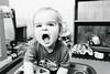 Will - 13 months old (Katherine Ridgley) Tags: monochrome blackwhite blackandwhite torontotoddler toddler toddlerboy boy toddlerfashion fashion blueeyes blueeyesboy