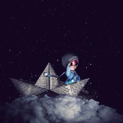 Exploration (Zorha Nightwood) Tags: custom fullcusto doll pullip groove jun planning obitsu photoshop photo astre nuage lavolière blythe montage olympus