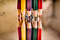 Colored Pencils (Back Road Photography (Kevin W. Jerrell)) Tags: stilllife nikond7200 coloredpencils mirror niksoftware photoshoplightroom macro closeups reflections