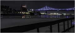 a winter's night (montrealmaggie) Tags: night downtown winter montreal fence bridge city urban landscape