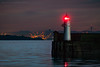 Ripples (ianrwmccracken) Tags: lighthouse navigation nikon bridge sigma water evening sea red 150600mm fife silhouette scotland ripple ianmccracken inchcolm island riverforth railway d750 coast beacon light