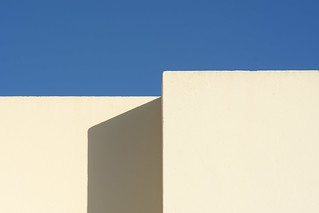 White building and shadow