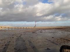 Low Tide (purseypig) Tags: selsey lowtide eastbeach pebbles shadows clouds seaside shingle seaweed