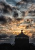 Foredown Tower at sunrise (sussexscorpio) Tags: 2018 downs eastsussex foredowntower january nationalpark portslade southdowns sussex sussexdowns sussexscorpio cameraobscura clouds dawn light morning sunrise watertower winter architecture canon canon80d filters silhouette roof building tower sky landscape atmosphere