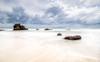 Storm &  Sea (Bron.Wolff) Tags: beach clouds cloudscape colours flow froth landscape light longexposure nature ocean rocks scenery sea seascape sky stormclouds water