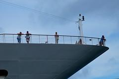 Iceberg Watch (Mondmann) Tags: cruiseship ship boat vessel tourists tourism passengers circularquay sydneyharbour harbour harbor sydney australia nsw newsouthwales deck railing mondmann fujifilmxt10