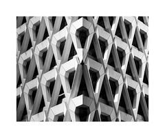 Welbeck Street Car Park (benjaminjohnson1983) Tags: 2017 abstract architecture blackwhite brutalist carpark concrete facade flickr geometry lines london londonvisit2017dec michaelblampiedandpartners repetition shapes triangle welbeckstreetcarpark