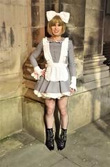 Django Unchained Maid(sort of) (Miss Nina Jay) Tags: maid trannie tights boots