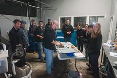 Staff (FISH-BIO) Tags: training fisheriestraining taggingfish fish tag floytag disk tagpeterson tagfish cradlepit tagpit